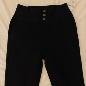 Skinny high waisted black jeans size 30